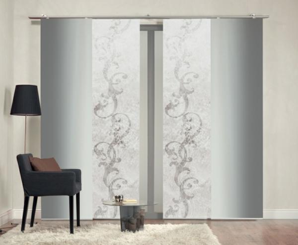 31 wundersch ne modelle moderne schiebegardinen. Black Bedroom Furniture Sets. Home Design Ideas