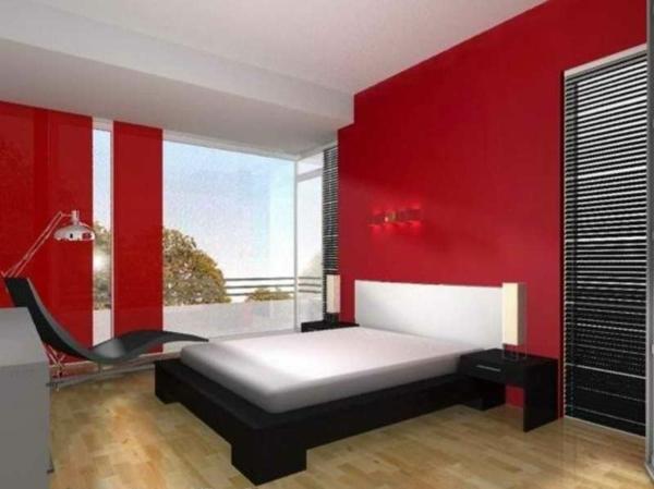 Warme Wandfarben - Genießen Sie Eine Gemütliche Atmosphäre Zu ... Schlafzimmer Rote Wand