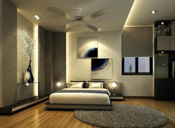 Schlafzimmer Sehr Modern Gestalten  Graue Farbe Und Dekoartikel