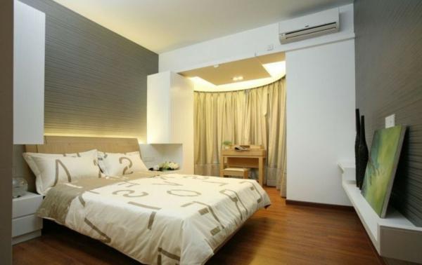 interessante deckenlecuhten und wandleuchten im schlafzimmer