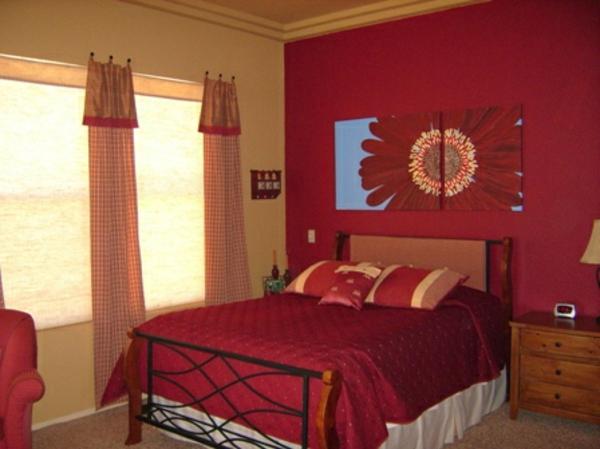 Schlafzimmer Farben Rot ~ Raum Haus Mit Interessanten Ideen Schlafzimmer Farben Rot