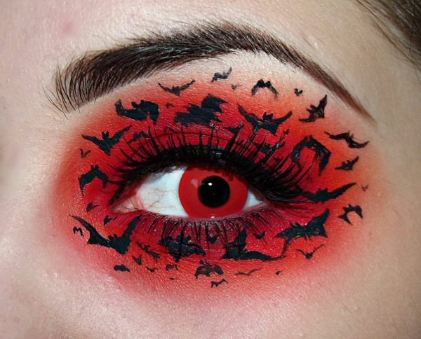 schminken-rot-halloween- schöne auge