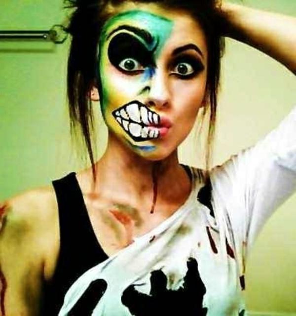 Halloween Schminken 30 Verblüffende Ideen Archzine Net