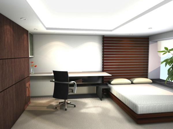 28 originelle schlafzimmergestaltung ideen for Schreibtisch im schlafzimmer
