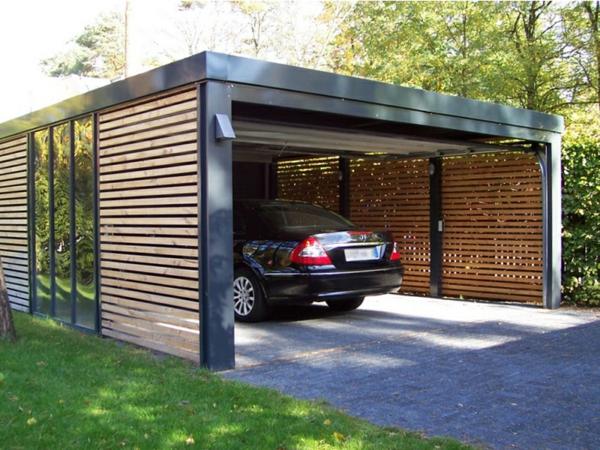 Moderne holzgarage  Moderne Garagen - 30 originelle Designs - Archzine.net