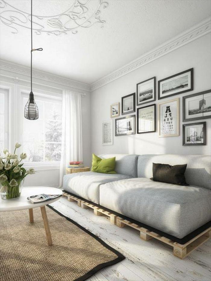 paletten sofa wohnzimmer:wohnzimmer sofa selber bauen : Dieses fantastische Sofa kostet nur 15