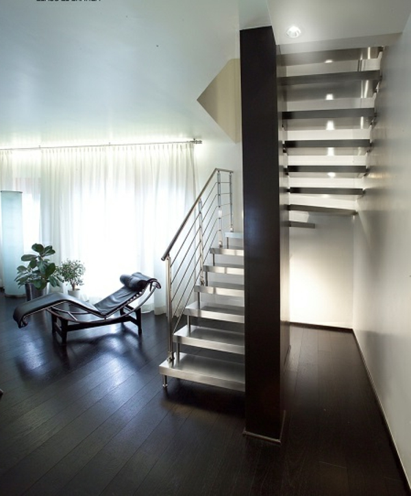 freischwebende treppen aus stahl für ein luxus zimmer design