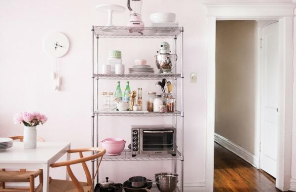 drahtregale in der küche als eine gute wohnidee