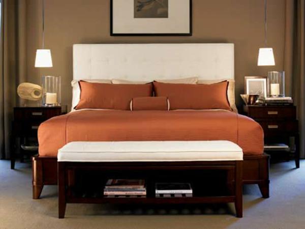 warmes-schlafzimmer mit warmen farben