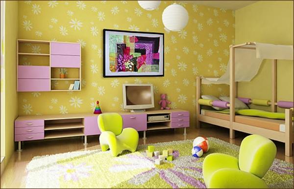 wohnen-einrichtungsideen- kinderzimmer - frische farben