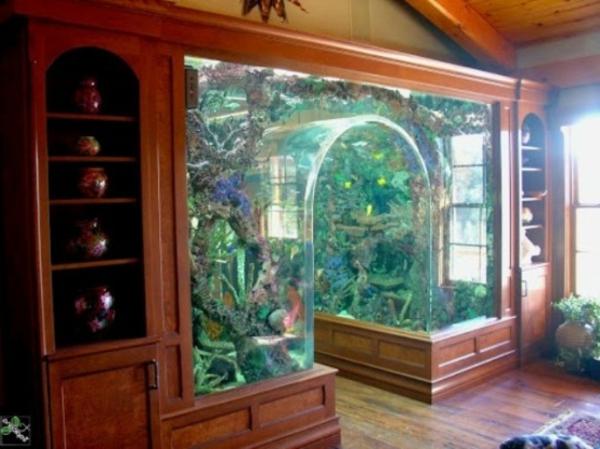 Aquarium Schrank - schaffen Sie eine exotische Atmosphäre zu Hause! - Archzine.net