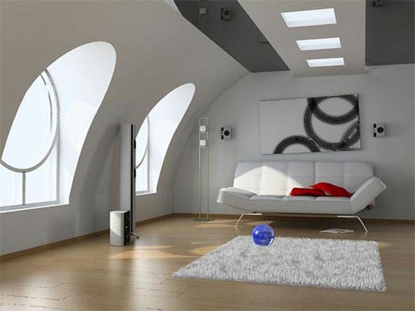 wohnungseinrichtung ideen- weiße gestaltung -moderne möbel