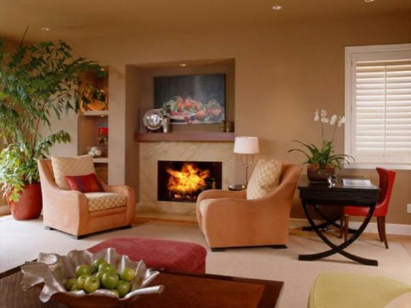 design : wohnzimmer wandfarbe rot ~ inspirierende bilder von ...