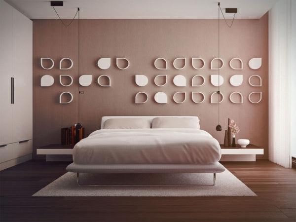 Schlafzimmerwand gestalten- bunte Farben erwecken immer freundliche ...