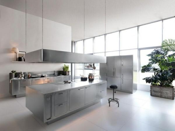 Edelstahl-Küche-modernes-design-kochinsel-einheiten-Abimis-prisma - interessant