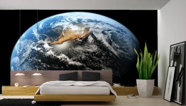 Mond Als Dekoration Schlafzimmer Wand Kosmos