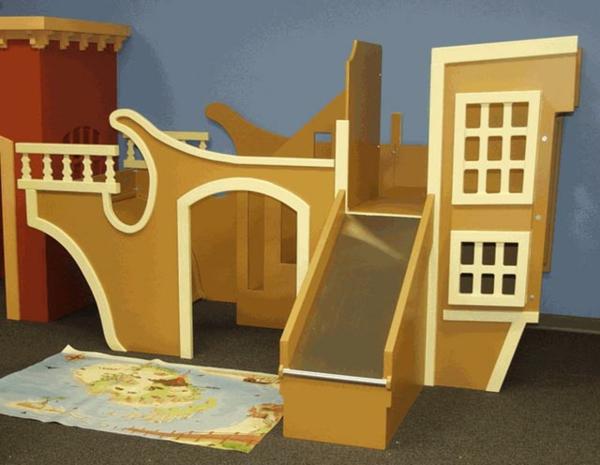 abenteuer-hochbett - modernes aussehen -beige