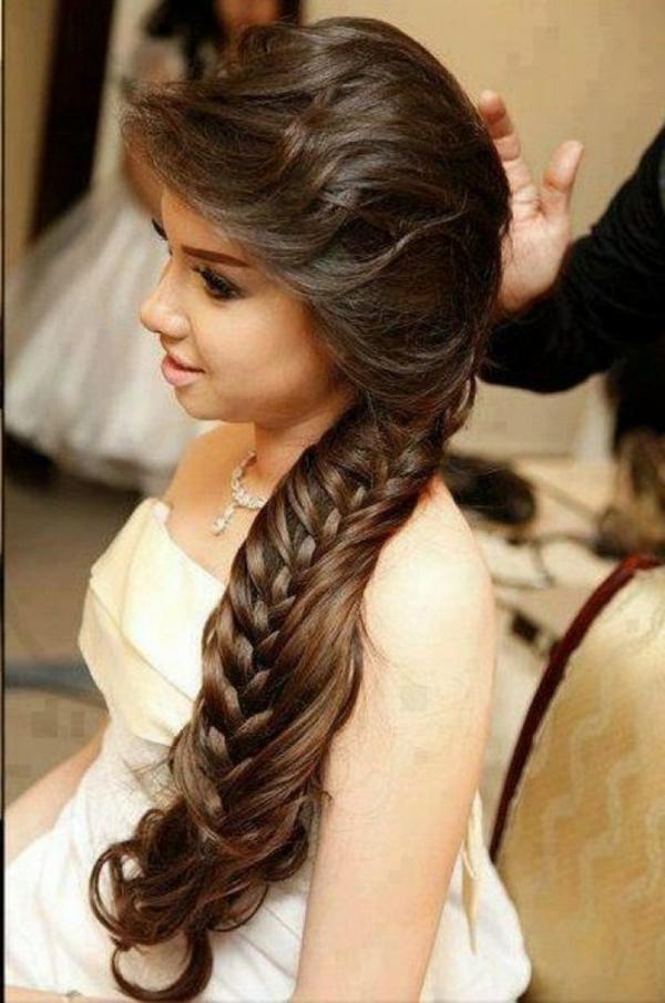 arabische-hochzeitsfrisuren-lange-braune-haare- wunderschön aussehen