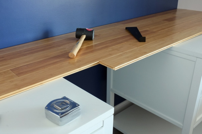 Arbeitsplatte Schreibtisch Weiße Farbe Diy Modell