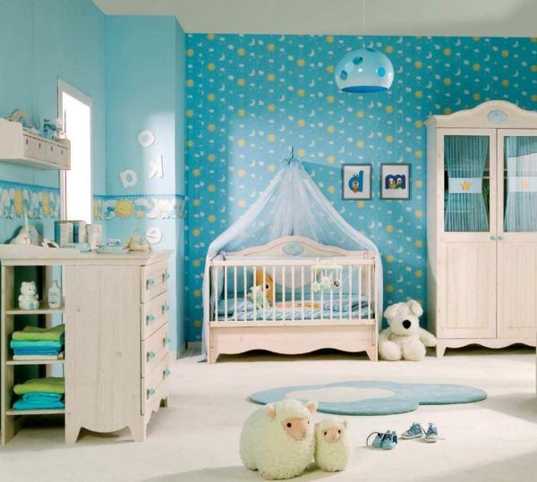 babyzimmer tapeten junge ? reiquest.com - Ideen Kinderzimmer Tapeten Muster