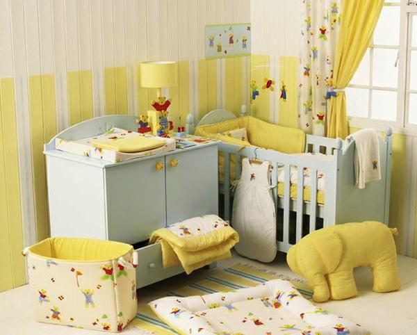 Babyzimmer tapeten 27 kreative und originelle ideen - Babyzimmer gelb ...