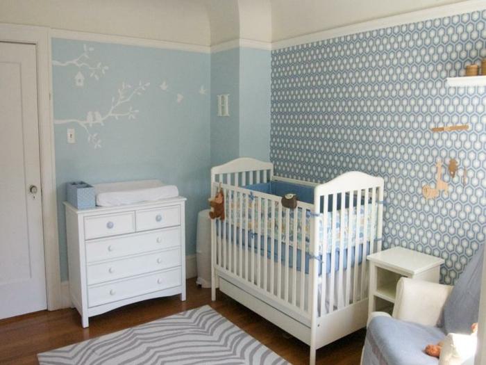babyzimmer-wanddeko-interessante-tapeten-für-jungen