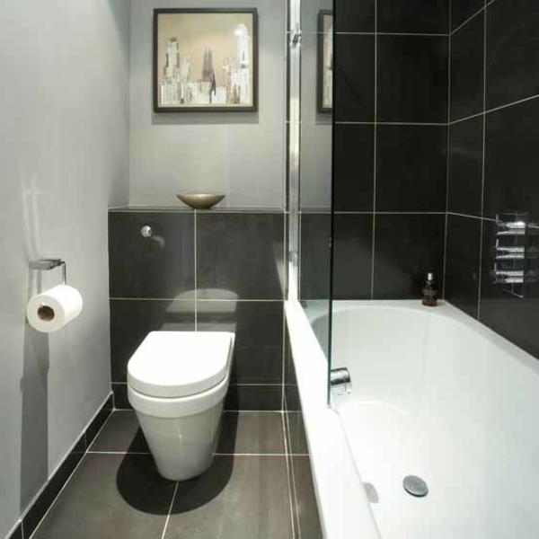 bad-ideen-für-kleine-bäder - badewanne weiß