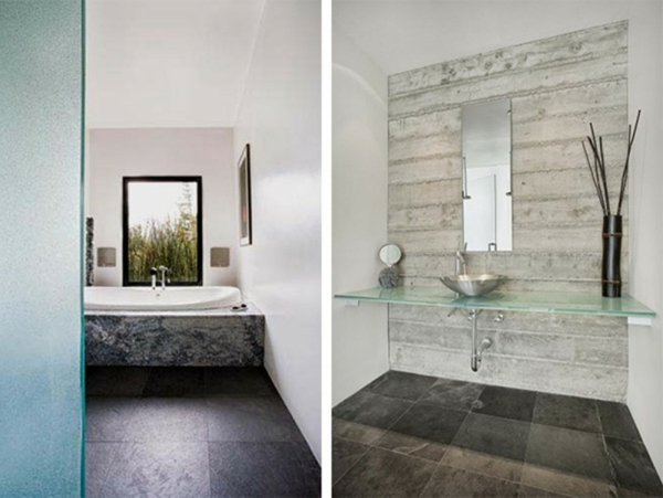 badezimmer-dekoration-schöner-wohnen-zwei-bilder - moderne bäder ideen
