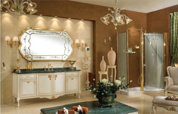 57 wundersch ne ideen f r badezimmer dekoration - Kronleuchter fur badezimmer ...