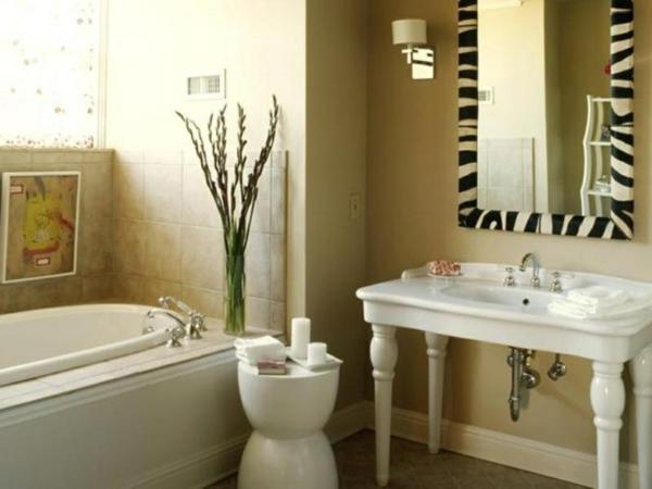badezimmer-vorschläge-modern - grüne pflanze