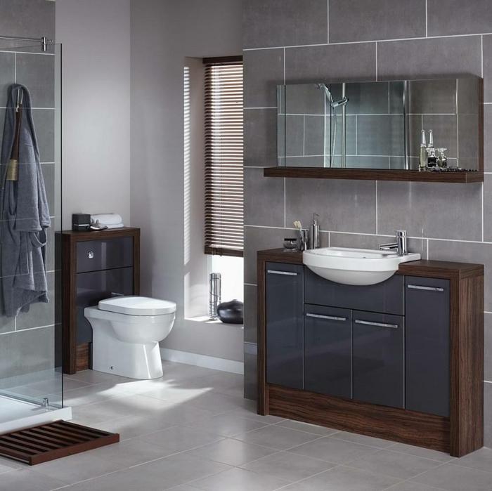 Badezimmer Wandfarben Graue Gestaltung