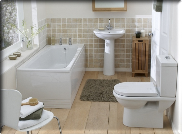 badezimmergestaltung ideen weie mbelstcke - Badezimmer Ideen Fr Kleine Bder