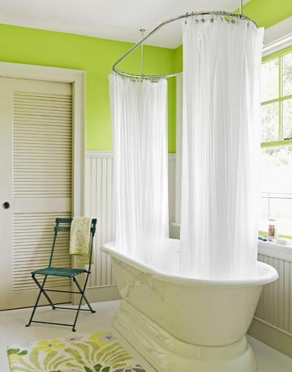 badezimmerideen-sehr-schöne-einrichtung - weiße gardinen dekoration