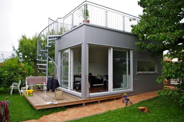 billig-häuser-moderne-gestaltung - gläserne wände