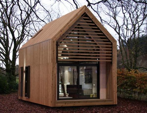 billige-häuser-klein-aus-holz - dach - modernes design