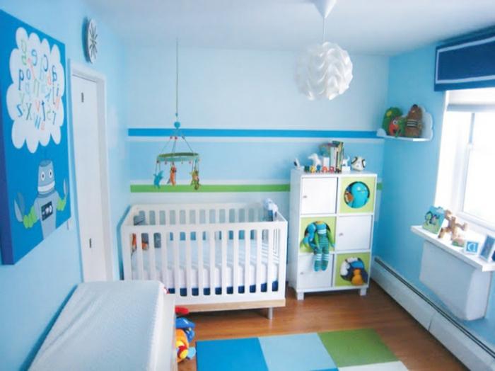 blaues-babyzimmer-wanddeko-für-jungs