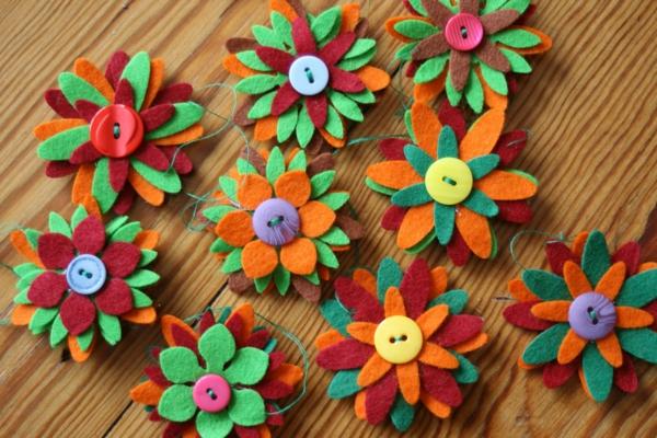 Hervorragend Filzblumen Selber Machen U2013 Finden Sie Kreative Ideen!