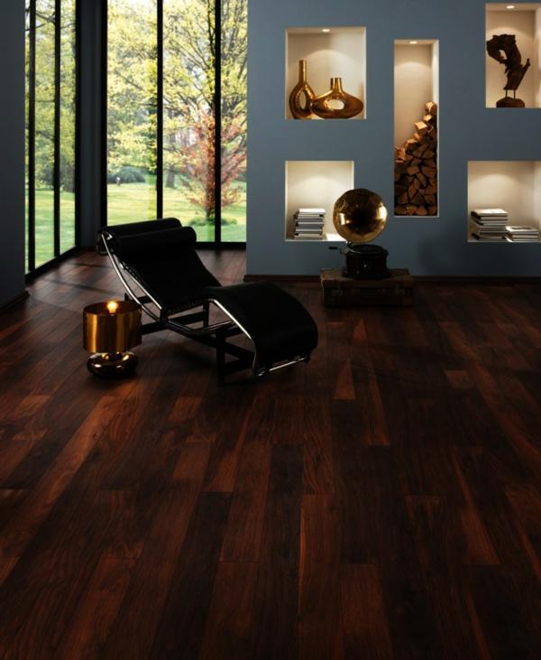 wohnzimmer boden dunkel: Teppich auf den Boden – er schafft ein gemütliches Ambient