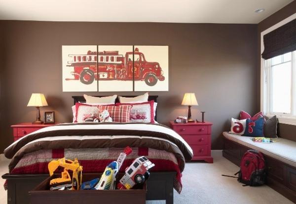 Braune Wandfarbe für eine gemütliches Ambiente im Zimmer - Archzine.net
