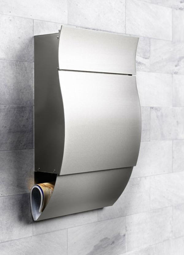 briefkästen-edelstahl-moderne-gestaltung- graue gestaltung