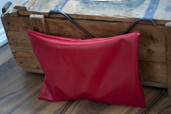 rote handtasche selber machen -elegantes modell - kreatives nähen