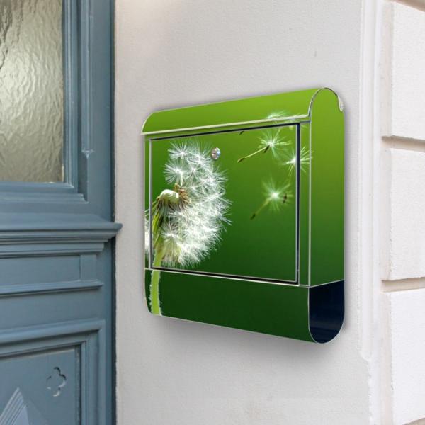 designer-briefkasten-grüne-farbe - modern gestaltet