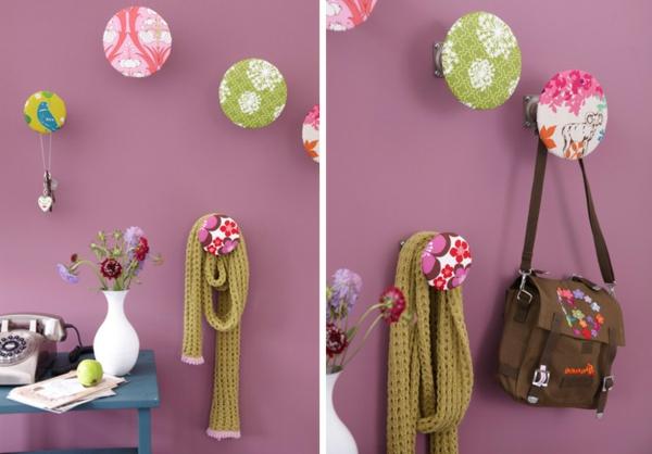 diy-wandgarderobe-hänger-kreative-bastelidee- zwei bilder