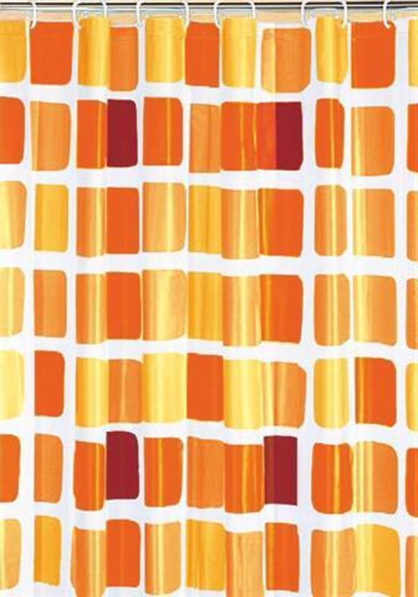 duschvorhang-marimekko-orange-farbnuancen -modern