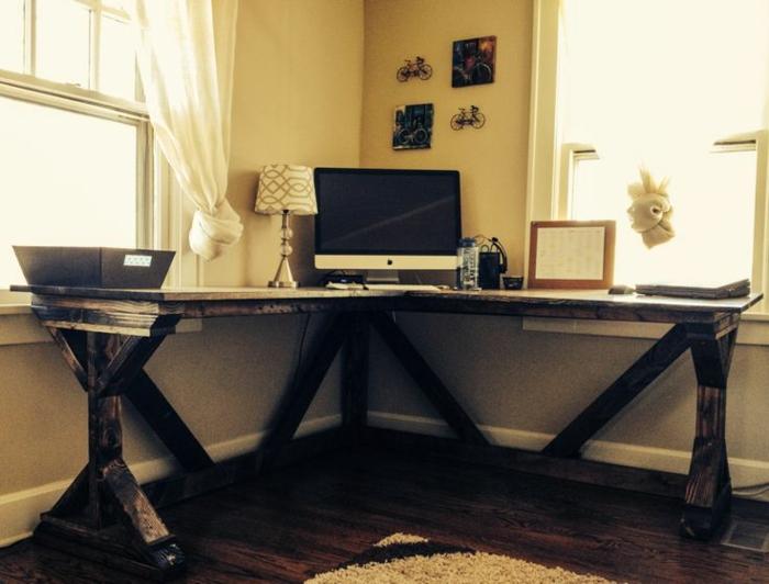 Schreibtisch selber bauen -106 originelle Vorschläge! - Archzine.net