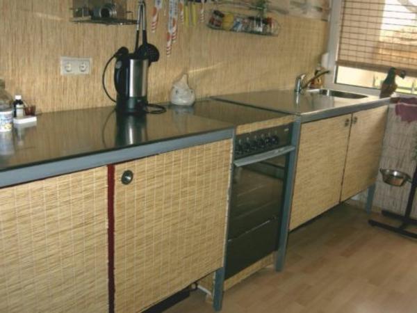 edelstahl-küche-arbeitsplatte - küchenblock modern
