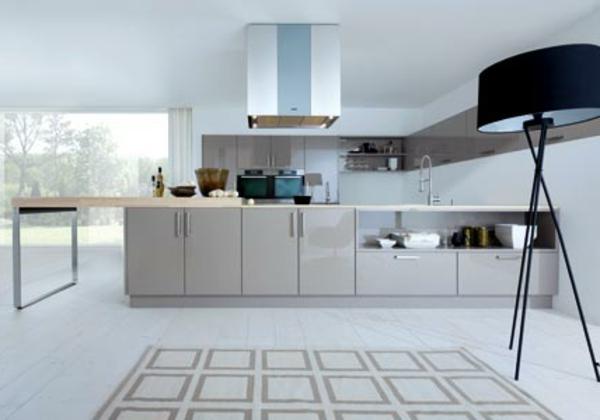 edelstahl-küche-ikea-weiße-gestaltung - neues modell von lampen