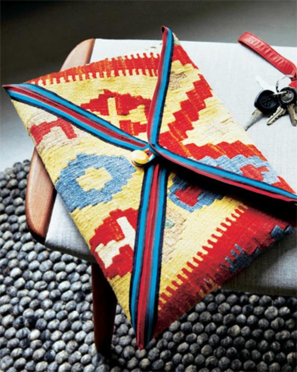 bunte diy handtasche  zum selbermachen