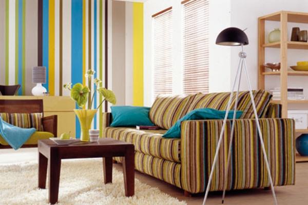 farbdesigner-schöner-wohnen-bunte-farben-gestrichene-wand .modern