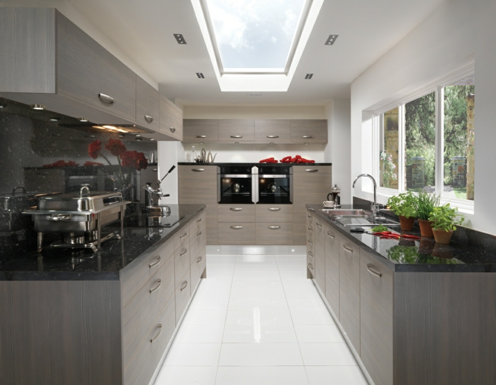 Farbpalette Wandfarben Attraktive Große Küche In Grau